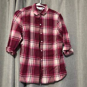 Maroon/pink plaid shirt